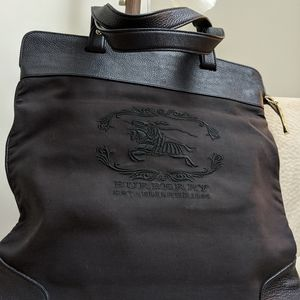 Burberry embroidery rollable tote bag